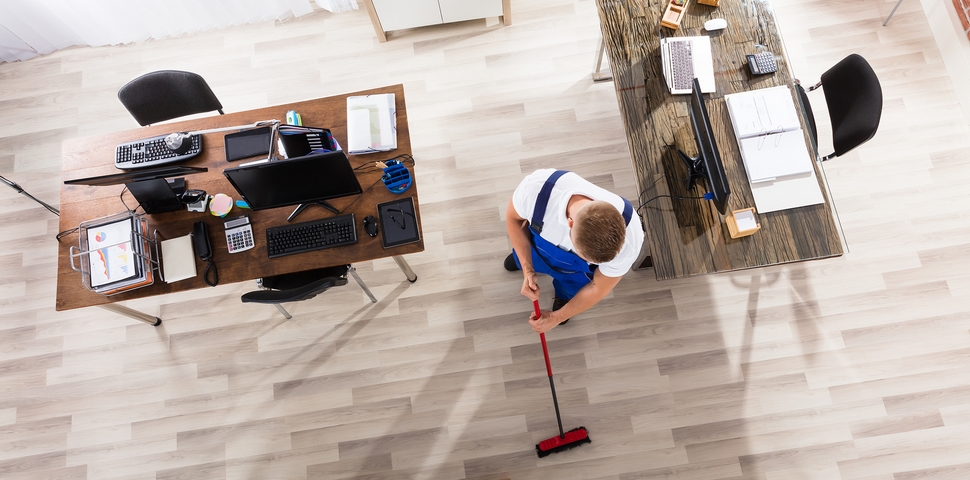 One of the office spring cleaning tips is to divide the office into sections.