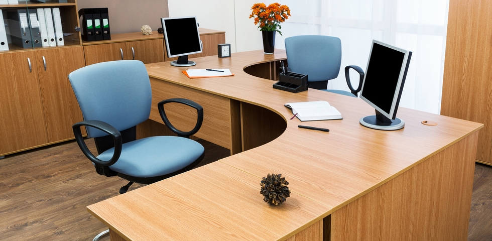 One of the office organization tips and tricks is to clear your desk.