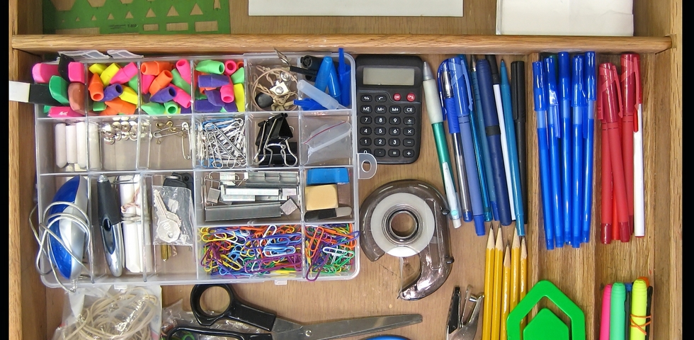 One of the office spring cleaning tips is to designate an area for supplies