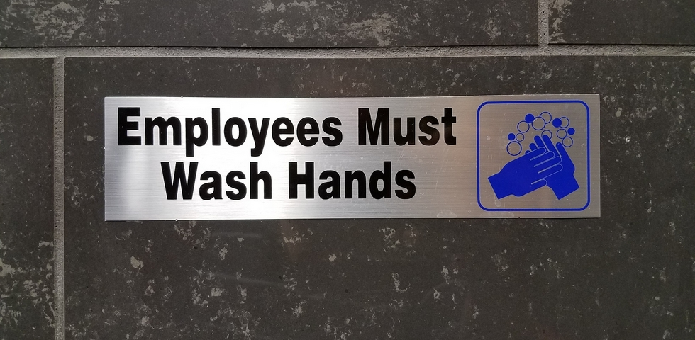 Display Signage with Cleanliness Themes