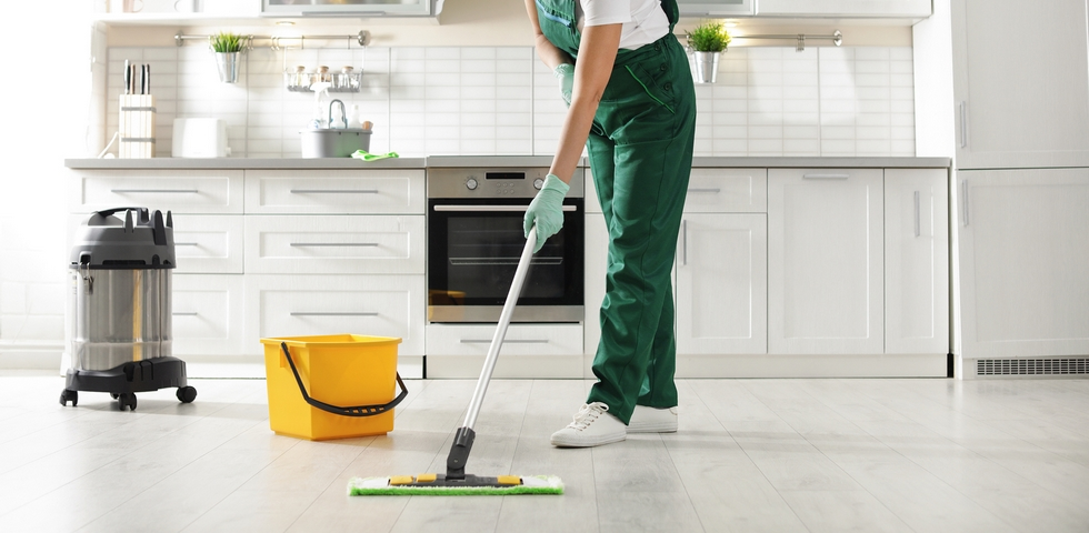 Hire a professional restaurant cleaning service.