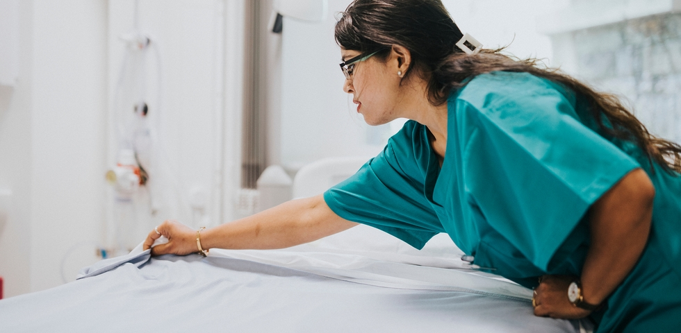Start by cleaning the furniture in a medical practice.