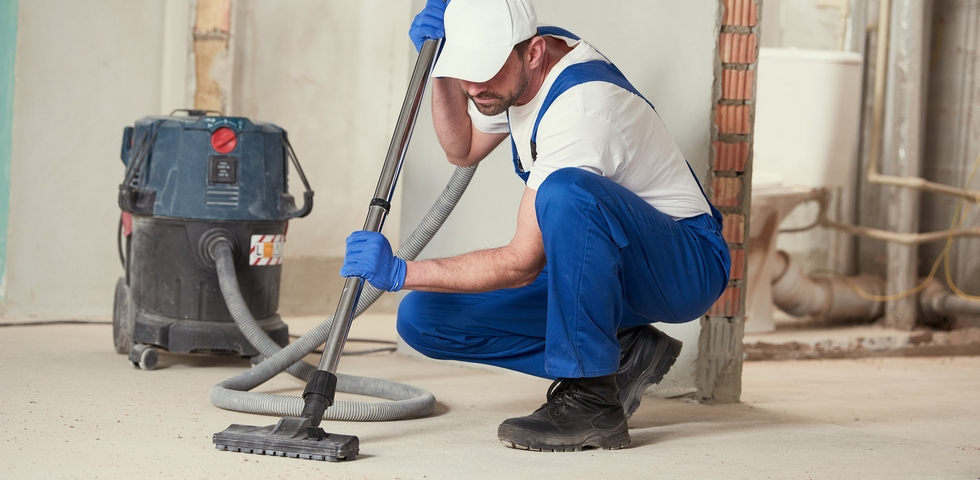 Some areas require vacuuming after construction is done.