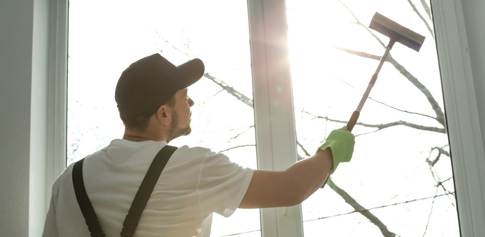Clean the windows in dry and cool weather.