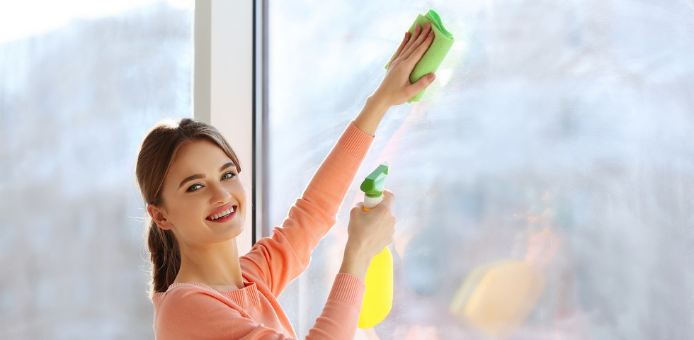 Clean the windows vertically and horizontally.