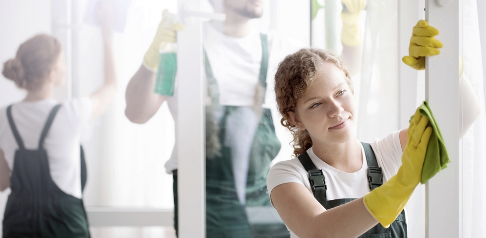 Create a window cleaning roster for your employees.