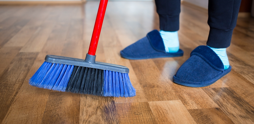 Before mopping, you should sweep or vacuum first