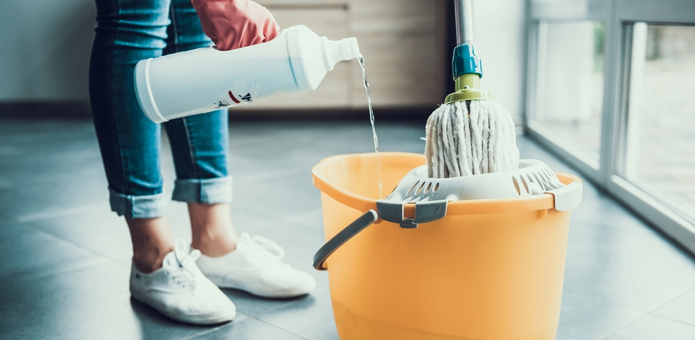 You should use the right amount of cleaning solution