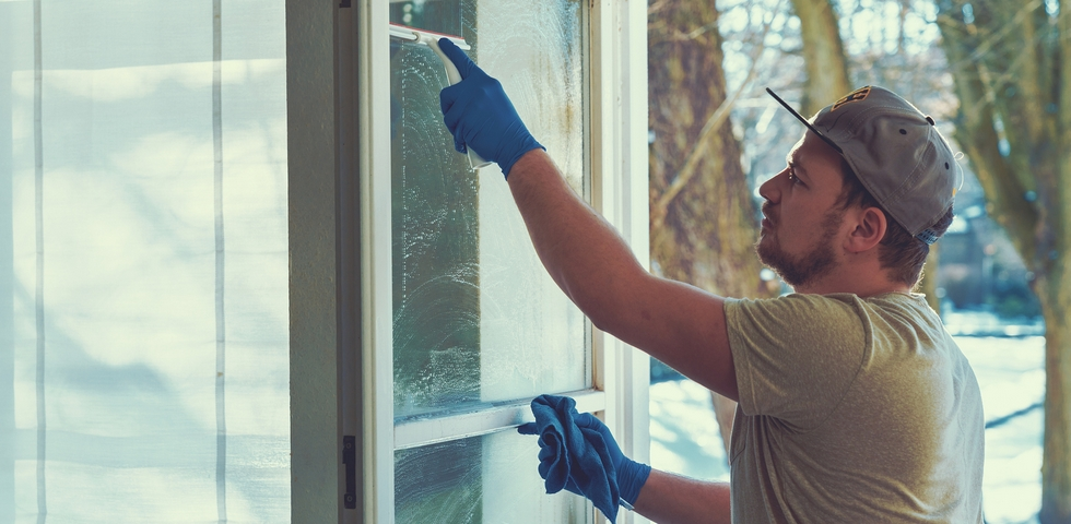 Clear the dust and debris from the windows