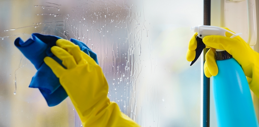 Use plenty of cleaning solutions on your windows